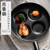 四孔煎蛋鍋迷妳荷包蛋早餐不粘雞蛋餃鍋模具平底鍋電磁爐煎蛋神器   igo 瑪麗蘇