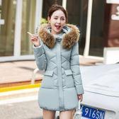 風衣大衣外套中長款修身顯瘦大毛領冬季外套女-大小姐韓風館