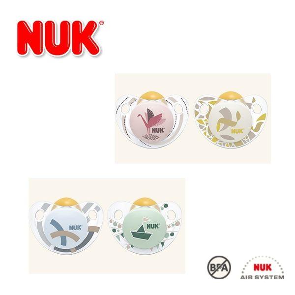 德國【NUK】可愛圖樣系列0-6M乳膠安撫奶嘴2入-德國原裝/德國製造/兩款