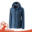 【Wildland 荒野 男 輕量杜邦防風防潑外套《土耳其藍》】OA22906/防風外套/長版風衣/內層刷毛