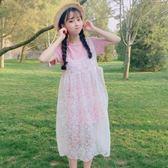 連身裙-夏裝新款套裝韓版女中長款學生短袖T恤 清新吊帶裙兩件套萌-薇格嚴選