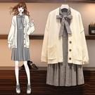 時尚穿搭針織外套連身裙中大尺碼L-4XL...