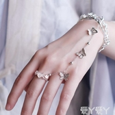手錬古風鈴鐺戒指手鐲漢服手飾開口鐲子中國風宮鈴禮物宮廷復古飾品