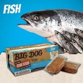 *WANG*【免運】(1盒12片入)澳洲BIG DOG(BARF)巴夫《犬用生食肉餅-雙魚口味》//冷凍配送