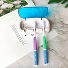 牙刷消毒器 紫外線烘干定時殺菌壁掛式消毒牙刷架三口之家置物 阿薩布魯