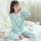 棉質產後孕婦保暖夾棉空氣層開衫哺乳期喂奶月子服套裝 科炫數位