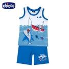chicco- 休閒-海洋鯊魚背心套裝