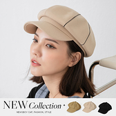 限量現貨◆PUFII-帽子 側水鑽質感素面報童帽子-0902 現+預 秋【CP20930】