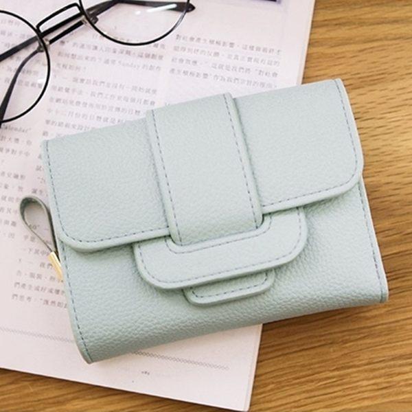 中夾-荔枝紋三折皮夾/零錢包-共4色-N420022-FuFu