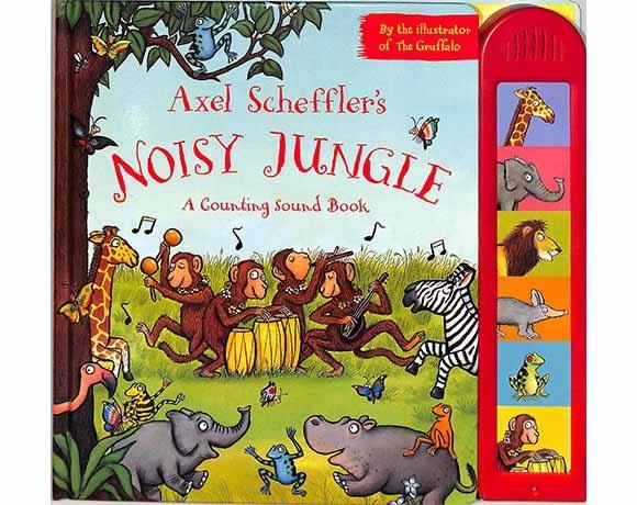 Axel Scheffler's Noisy Jungle 叢林派對 有聲硬頁故事書