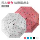 自動傘 抗UV開合全自動摺疊傘 超大變色晴雨傘-120公分 碳纖維《SV7011》HappyLife