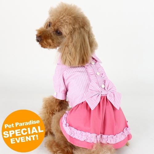 【PET PARADISE 寵物精品】Marie Claire 棉麻氣質洋裝/粉 (3S/DSS) 寵物用品 寵物衣服《SALE》