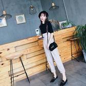 吊帶褲套裝2018新款韓版休閒寬鬆學生女時尚高腰寬褲 GY832『時尚玩家』