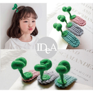 IDEA 免運 小草髮夾3入 植物 花 髮飾 飾品 可愛 個性 邊夾 瀏海夾 女生 女孩 兒童 百搭