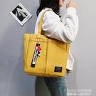 帆布包 帆布包包女2020新款日韓ins大容量大學生上課托特大包手提單肩包 1995生活雜貨