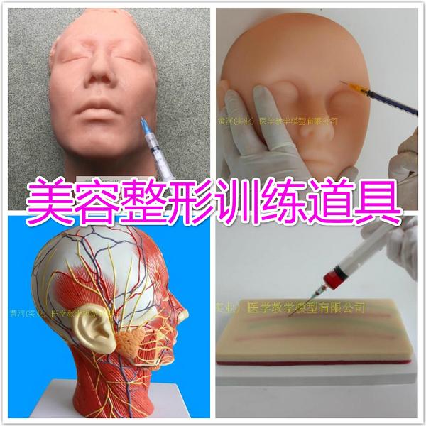 軟體人頭模型 美容專用 微整形 模特頭假人頭模硅膠頭 硅膠頭模