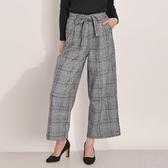 東京著衣-Felt maglietta-腰綁帶經典格紋寬褲-M(Z200020)