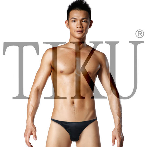 TIKU 梯酷 ~ 極簡時代 低腰超彈貼身三角男內褲-黑色(BP1711)