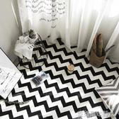 地毯 黑白幾何北歐簡約現代宜家客廳沙發茶幾地毯 臥室床邊滿鋪長方形 MKS春節狂購特惠