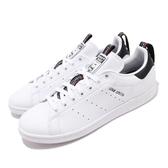 adidas 休閒鞋 Stan Smith 白 黑 男鞋 皮革 串標設計 運動鞋【PUMP306】 FW5814