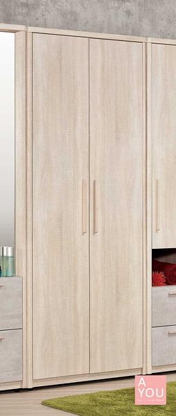 漢斯2.7尺衣櫥(二抽)  大特價 11000元【阿玉的家 2020】新品搶先 大台北免運費