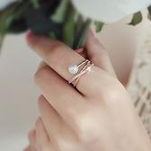 戒指 925純銀 鑲鑽-個性纏繞生日情人節禮物女開口戒3色73dv30【時尚巴黎】