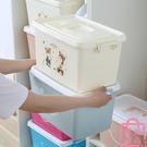 收納箱衣服整理箱收納盒有蓋衣物儲物箱【匯美優品】
