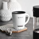 不銹鋼杯子男女學生情侶馬克杯帶蓋勺保溫咖啡辦公室家用水杯 KP2673快出『小美日記』