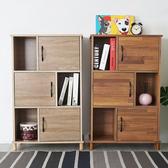 書櫃《YoStyle》日和六格三門書櫃(二色) 置物櫃 收納櫃 櫥櫃 展示櫃
