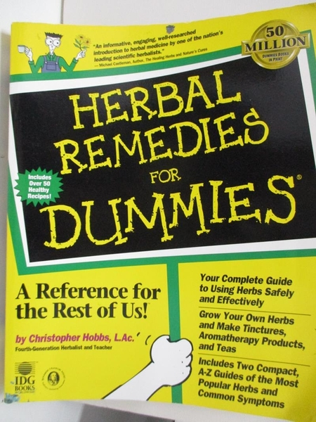 【書寶二手書T5/醫療_DUQ】Herbal Remedies for Dummies_Hobbs, Christopher