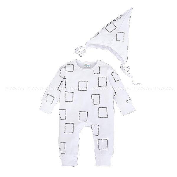 超低折扣NG商品~長袖兔裝 彈性布長袖連身衣+造型帽 LU22411 好娃娃