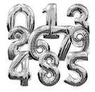 銀色16吋數字氣球/個(未充氣)~~鋁箔氣球/求婚道具/尾牙佈置/