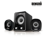新竹【超人3C】電擊 DENGEKI 2.1聲道USB多媒體喇叭 冷光電源指示 重低音與音量控制 KT#SKSK827