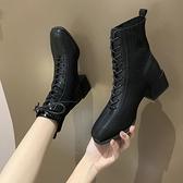 馬丁靴女潮ins酷2020年秋季新款英倫風百搭粗跟網紅春秋單靴短靴