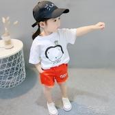 女童短袖T恤-女童夏裝女寶寶短袖T恤純棉2020新款時髦洋氣兒童印花打底衫1-3歲 喵喵物語
