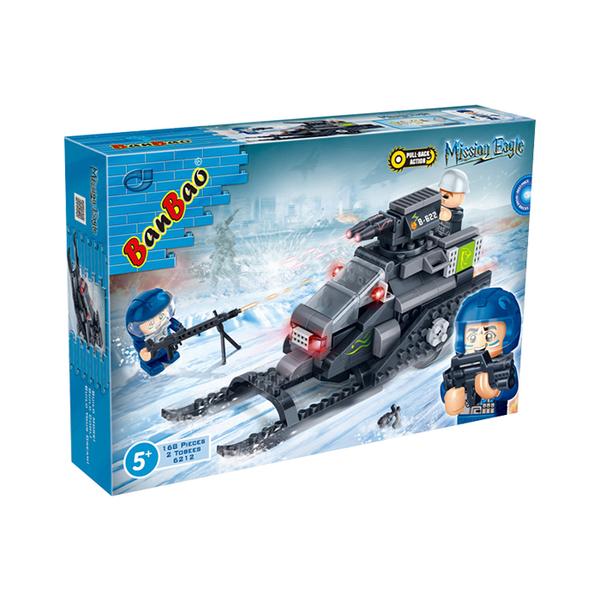 超級警察系列 NO.6212飛狐閃電炮 迴力車【BanBao邦寶積木楚崴】