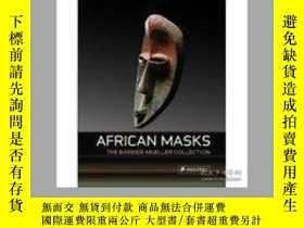 二手書博民逛書店African罕見Masks:From Barbier Muel