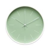 Lovel 30cm北歐簡約金屬框靜音時鐘-綠(T721–GN)