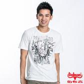BOBSON 男款WORLD印圖短袖上衣(白21028-81)