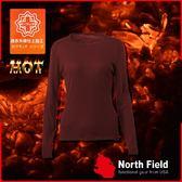 【North Field美國 女圓領遠外線內衣《赤紅》】205R/保暖衣/發熱衣/膠原蛋白/吸濕排汗/親膚