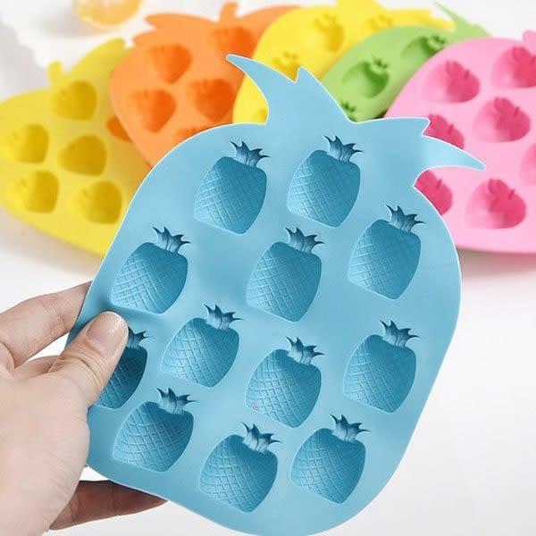 【BlueCat】好彩頭鳳梨造型冰塊製冰格 製冰器 果凍模具