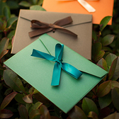 【BlueCat】珠光紙綁繩蝴蝶結 加厚信封 (短)