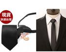 領帶來福,K195拉鍊49cm超細領帶無光3.5cm黑色劍式平頭窄版領帶窄領帶 ,售價120元