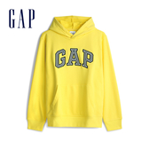Gap男裝 Logo棉質縮口連帽上衣 567861-亮檸檬黃色