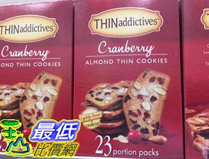[COSCO代購] C223990 THIN ADDICTIVES CRANBERRY ALMOND COOKIE 蔓越莓杏仁脆餅529公克