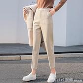 西裝褲 毛呢褲子秋冬2020年新款女高腰直筒九分西裝褲休閒蘿卜哈倫褲 年終大酬賓