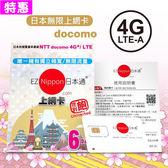 【即期特惠】EZ Nippon日本通6天吃到飽上網卡※啟用期限:2019/9/30