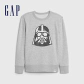 Gap男童 Gap x Star Wars星際大戰系列可撥動亮片休閒上衣 615938-淺灰色