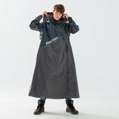 BrightDay-X武士斜開連身式雨衣-墨綠