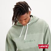 Levis 男款 重磅口袋帽T / 寬鬆休閒版型 / 全一色刺繡Logo / 430GSM厚棉 / 橄欖綠
